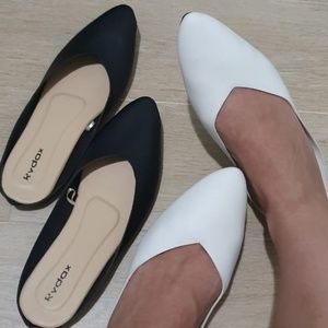Shoes - More pics of white mules